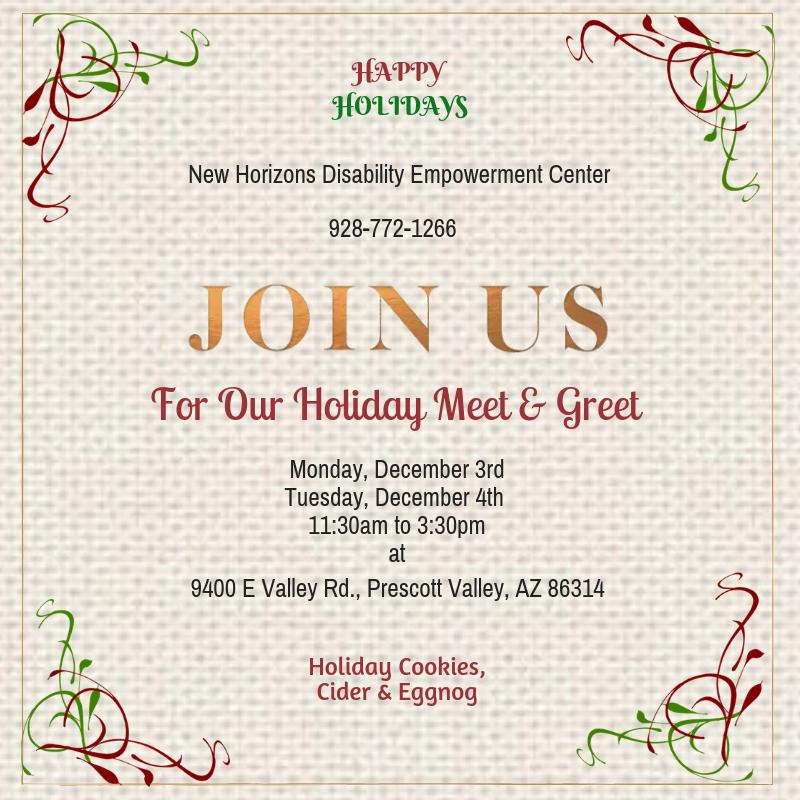 Holiday Meet & Greet social media